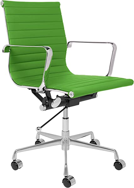 SOHO Ribbed Management Office Chair Green