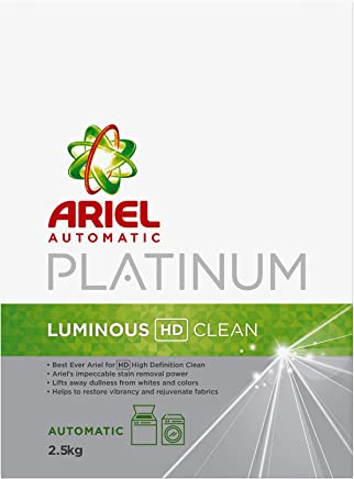 Ariel Automatic Platinum Laundry Powder Detergent Luminous HD Clean 2.5 kg, Pack of 1