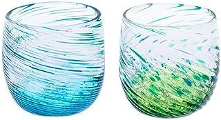 群星モールグラス2個セット(水・緑)