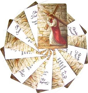 Religious Lenten Prayer Card Set, 3 7/8 Inch