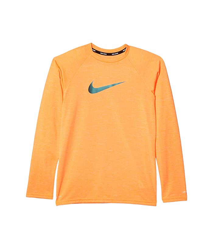 Nike Kids  Long Sleeve Hydroguard (Little Kids/Big Kids) (Total Orange) Boys Swimwear