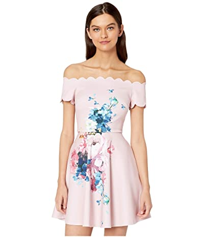 Ted Baker Sirenta Raspberry Bardot Skater Dress (Light Pink) Women