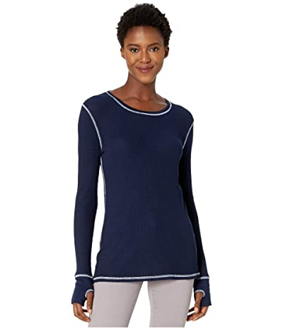 Mod-o-doc Thermal Long Sleeve Tee with Thumb-Holes (True Navy) Women