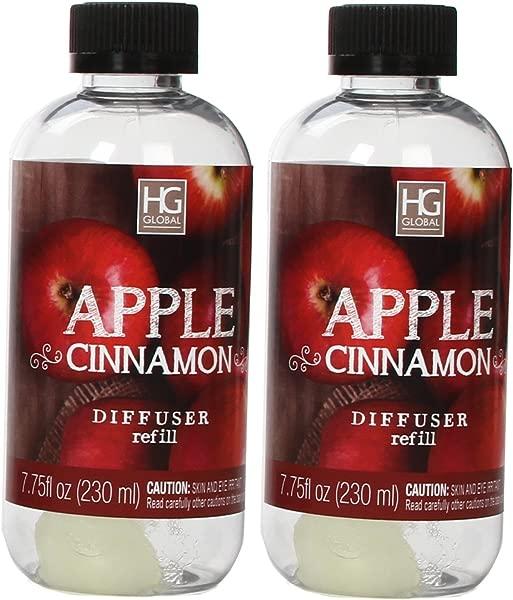Hosley Aromatherapy Set Of 2 Premium Apple Cinnamon Reed Diffuser Refills Oil 230 Milliliter 7 75 Fluid Ounces Ideal Gift For Weddings Spa Reiki Meditation Settings W1