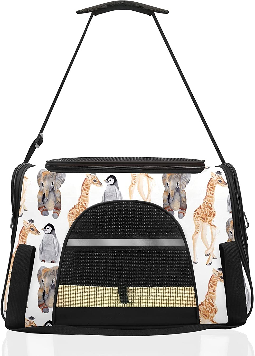 Pet Carriers for OFFicial Cat Year-end gift Giraffe Tra Soft-Sided Airline Approved