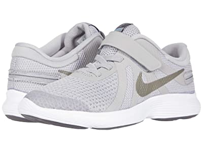 Nike Kids FlyEase Revolution 4 (Little Kid) (Atmosphere Grey/Metallic Pewter/Thunder Grey) Kids Shoes