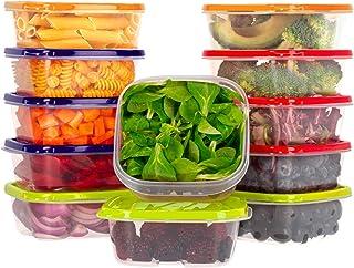 Oursson Ensemble de boîtes de Rangement Alimentaires-À Usage Multiple-Lot de 12 récipients Alimentaires en Plastique sans ...