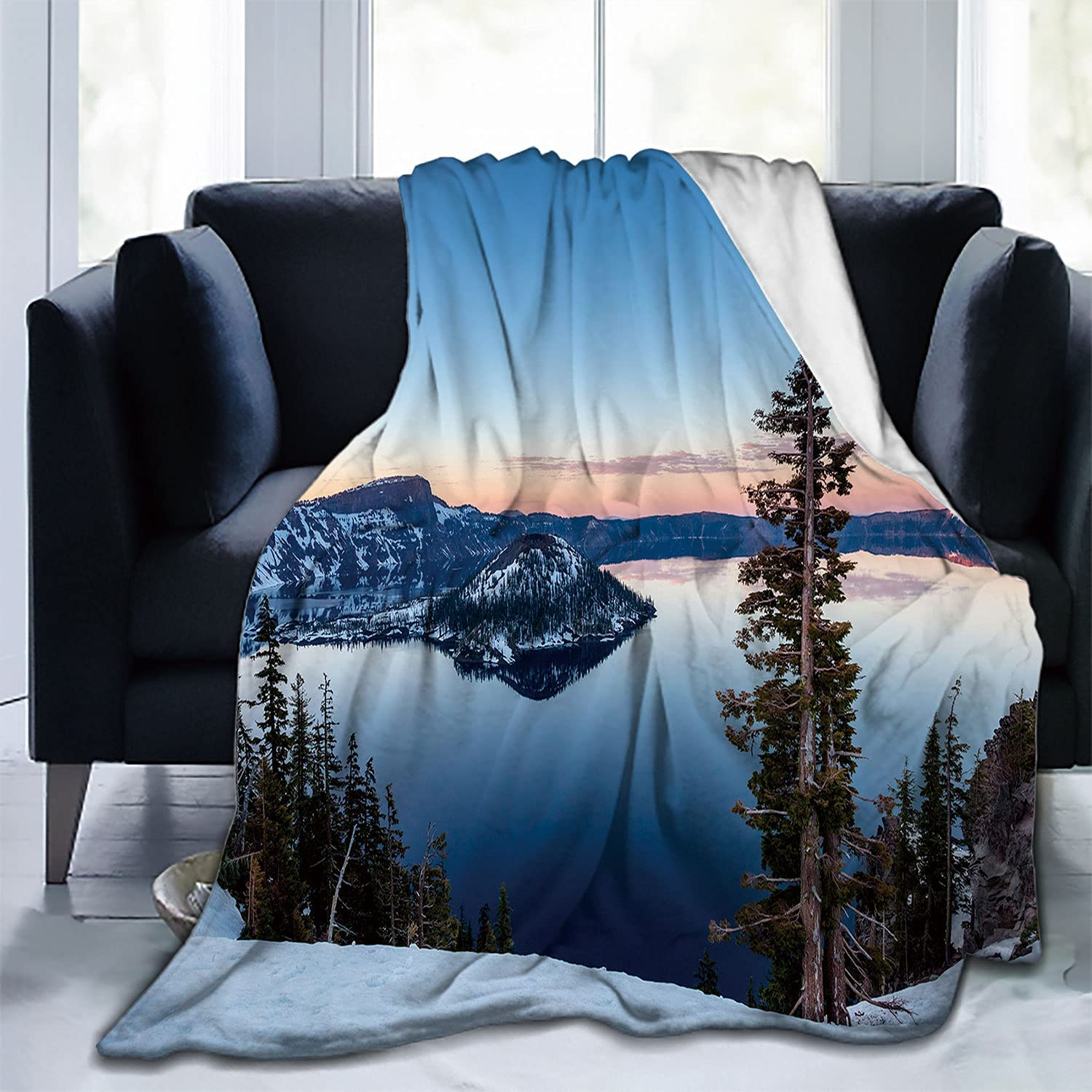 Nine Washington Mall City Crater Lake Couch Blanket Warm Out Blankets for Oregon Deluxe