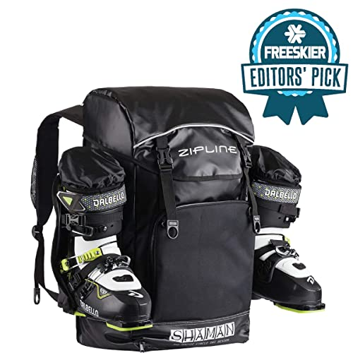 6c88610b5c Zipline World Cup Backpack – Skiing and Snowboarding Travel Luggage –  Stores Gear Including Jacket