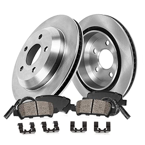 Max Brakes Front Elite Brake Kit KT048781 Fits: 2001 01 2002 02 2003 03 2004 04 2005 05 BMW 330Xi E-Coated Slotted Drilled Rotors + Ceramic Pads