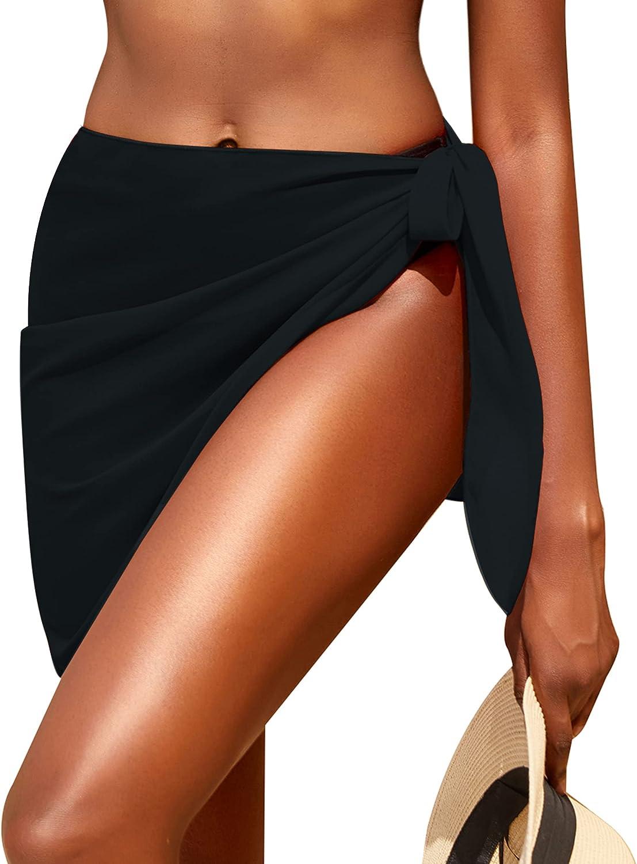 AI'MAGE Sarong Wraps Sheer Beach Short Cover-ups Skirt Chiffon Bikini Cover Ups for Women S-XXL