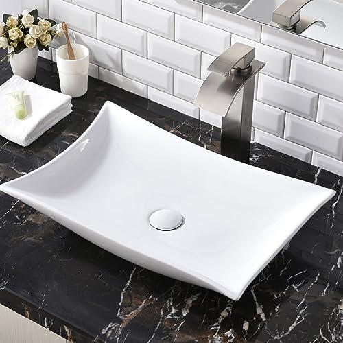 Ordinaire Contemporary Porcelain Ceramic Above Counter Bathroom Vessel Sink,  Countertop Bowl Lavatory Vanity Vessel Sink Bathroom