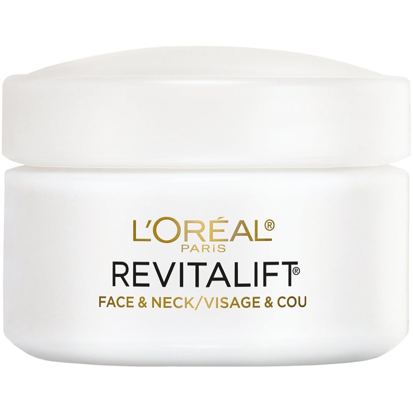 無条件粘り強い垂直L'Oreal Paris Advanced RevitaLift Face and Neck Day Cream, 1.7 Ounce (並行輸入品)