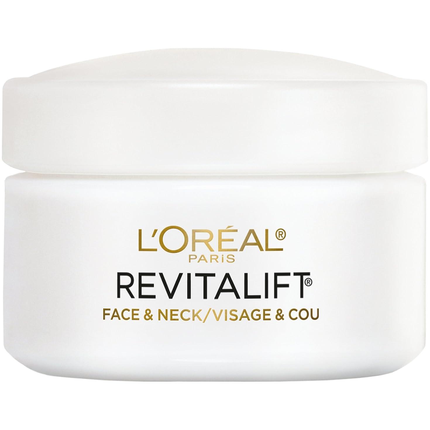 晴れ引き金車両L'Oreal Paris Advanced RevitaLift Face and Neck Day Cream, 1.7 Ounce (並行輸入品)