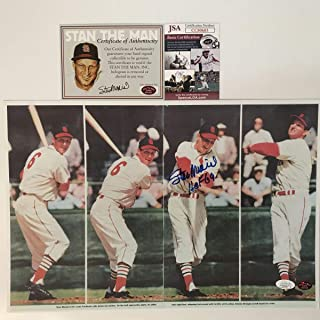 Autographed/Signed Stan Musial HOF 69 St. Louis Cardinals 11x16 Baseball Photo JSA COA