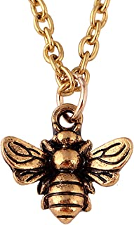 Vintage Minial Honeybee Bumblebee Necklace Insect Jewelry for Women Girl