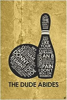The Big Lebowski: The Dude Abides Word Art Print Poster (12