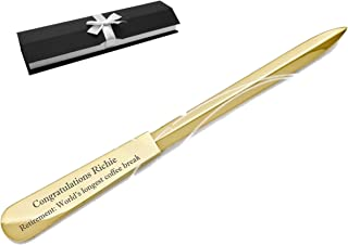 Personalized Rose Gold Letter Opener Custom Engraved Free