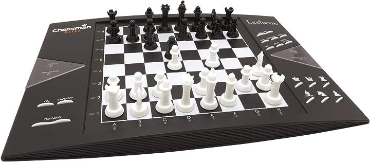 Computer di scacchi interattivo 64 livelli di difficoltà led lexibook- chessman elite CG1300