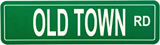 Leef Design Old Town Road - Aluminum Street Sign RD Wall Hanging Poster Decor - Perfect for Teenagers and Dorm Room Decoration