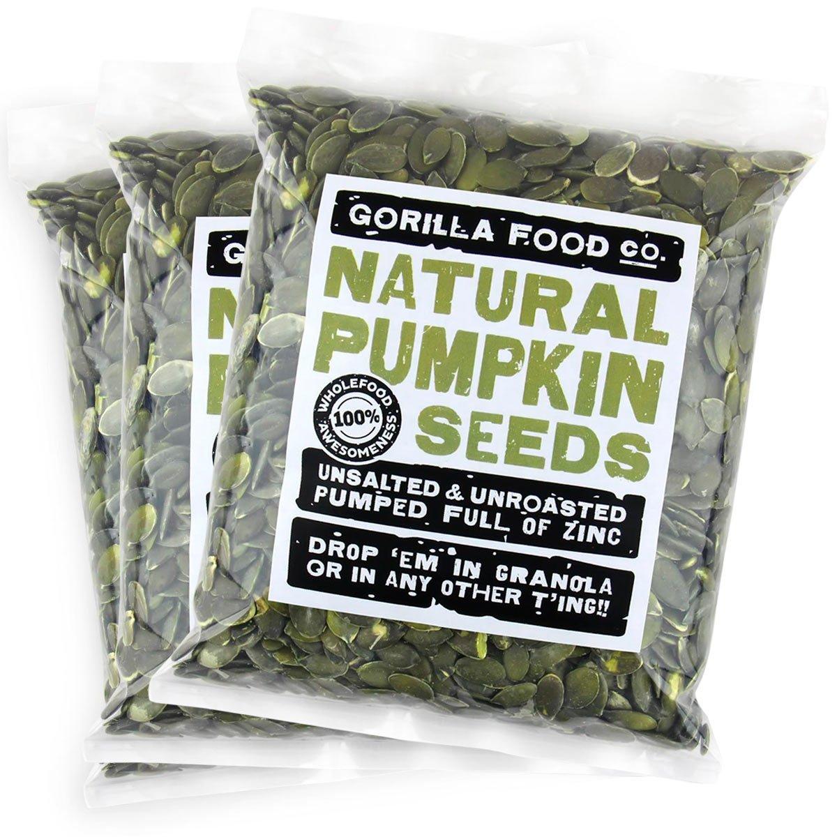 Gorilla Food shipfree Co. Pumpkin Seeds Raw Pepitas Shelled No Shell Ranking TOP3 Un