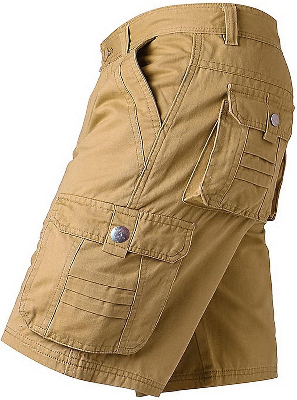 Sukyy Men Shorts Summer Work Trousers Military Fashion Short Pants Cargo Multi