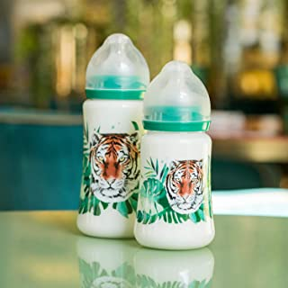 Tommy Lise Wide Neck baby Feeding bottle sutable for 3-6 months - Wild And Free (360 ml)