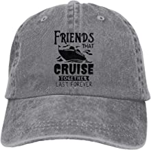 Unisex Adjustable Baseball Cap Friends That Cruise Together Last Forever Sun Hats