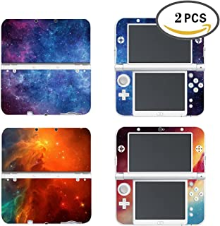 UUShop 2 Pack Protective Vinyl Skin Sticker Cover Wrap for New Nintendo 3DS XL/LL Nebula Light Galaxy 2 in 1