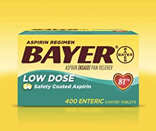 Bayer Low Dose Safety Coated Aspirin 81 mg, 400 Count