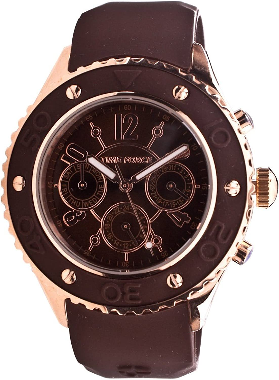 Time Force Reloj analogico para Mujer de Cuarzo con Correa en Caucho TF3301L14