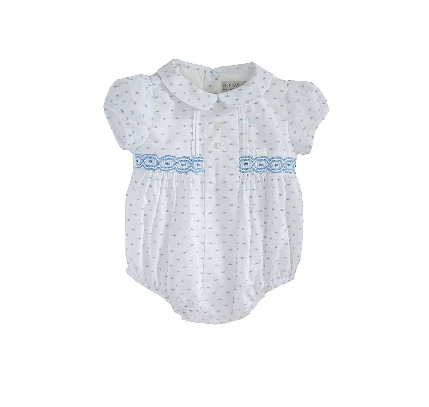 Phlona Baby Boy Smocked Bubble Bodysuit