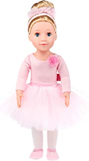 MeiMei 18 inch Doll Girl Ballet Bunny Toy Outfit Eyes Can Open & Close Toddler Dolls for Kids 3+ Adorable in Gift Box