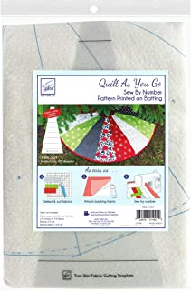 June Tailor Quilt As You Go Tree Skirt Printed Batting, White