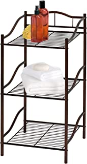 Creative Bath Products Complete Collection 3 Shelf Storage Tower, Oil Rubbed Bronze