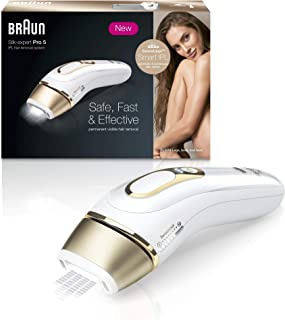Braun Silk·Expert Pro 5 PL5014 IPL Hair Remover Permanent Hair Removal - White and Gold