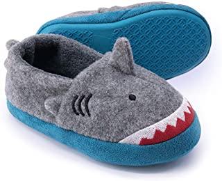 Dream Bridge Warm Animal Soft Cozy Cute Cartoon Plush Non-Slip Slippers Winter House Shoes Fuzzy Indoor Bedroom Shoes for Toddler Kids