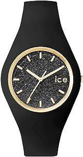 [アイスウォッチ]ICE WATCH 腕時計 ウォッチ グリッター 40mm ブラック シリコンラバーベルト クオーツ 10気圧防水 メンズ レディース [並行輸入品]