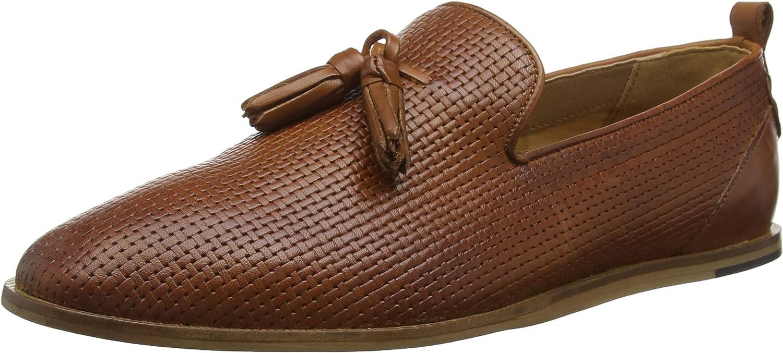 Hudson Herren Comber Leather Slipper, Schwarz