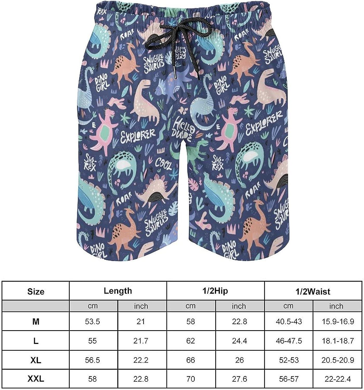SWEET TANG Men's Quick Dry Swim Trunks Drawstring Waist Beach Pants Board Shorts with Mesh Lining