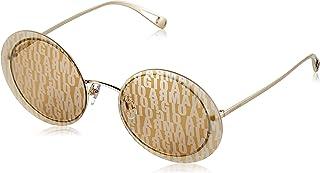 Giorgio Armani Woman Sunglasses, Gold Lenses Metal Frame, 59mm