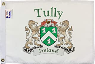 Tully Irish Coat of Arms Small White Flag - 12