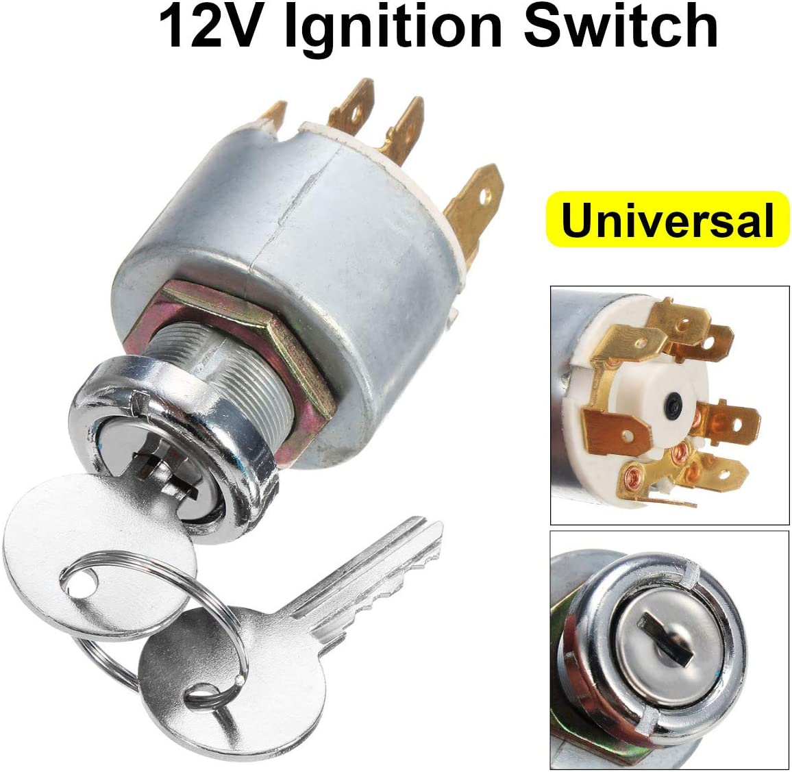 12V 4 Position Universal Car Ignition Max Outlet sale feature 66% OFF Boat Motorcycle Lock Cylin