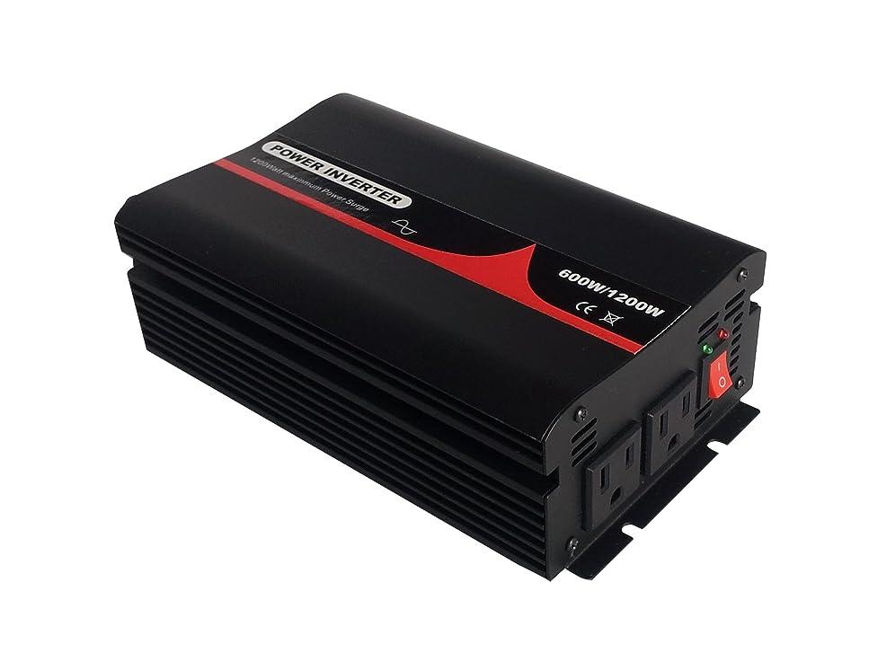 去るジャンクション識別する50HZ 60Hz切替 純正弦波インバーター 定格600W 最大1200W 輸入DC24V 輸出AC100V