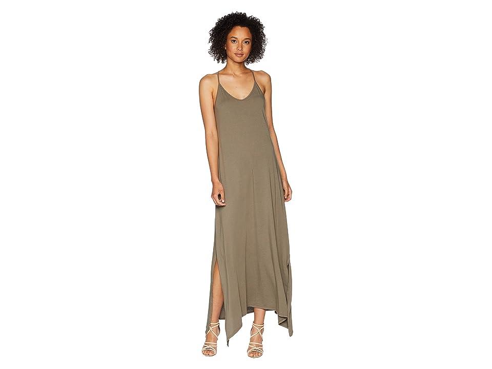 Michael Stars Cotton Modal Long Strappy Dress (Camo) Women