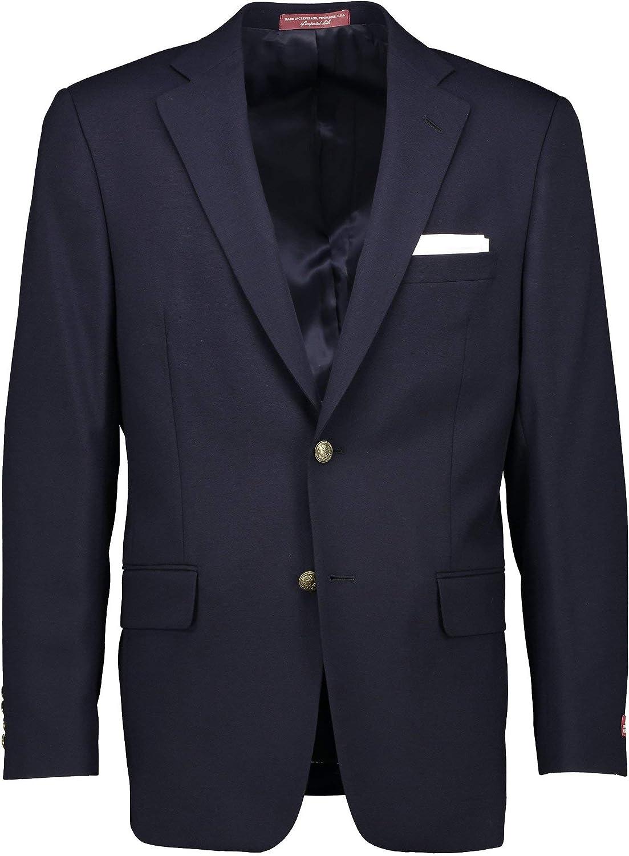 Hardwick Navy Wool Tall Men's Big and Tall USA Made Blazer