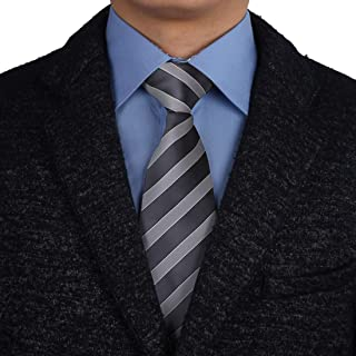 Epoint Men's Fashion Multicolor Microfiber Stripe Extra Long Tie For Boyfriends