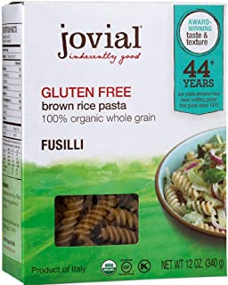 Jovial Fusilli Gluten Free Pasta, 12 oz
