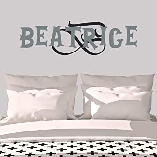 Personalized Girl's Name And Initial Wall Decal, Choose Your Own Name, Initial And Letter Styles, Multiple Sizes, Personalized Name Wall Decal, Bedroom Decoration, Wall Decal, Custom Name & Initial
