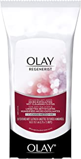 Makeup Remover Facial Wipes by Olay Regenerist with Vitamin E & C, Micro-Exfoliating Wet Cleansing Cloths, 30 Count (Pack of 3)